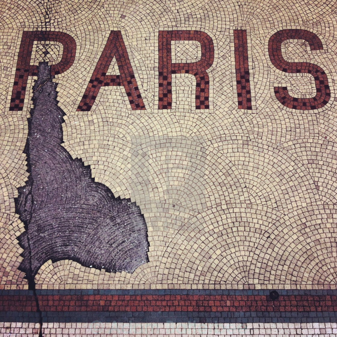 """Paris on the tiles"" stock image"