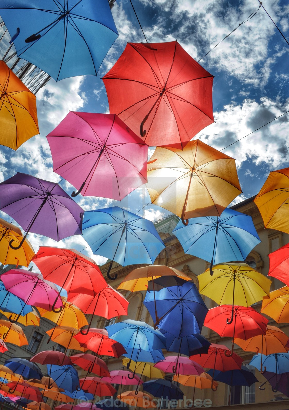 """Rainbow brollies 2"" stock image"