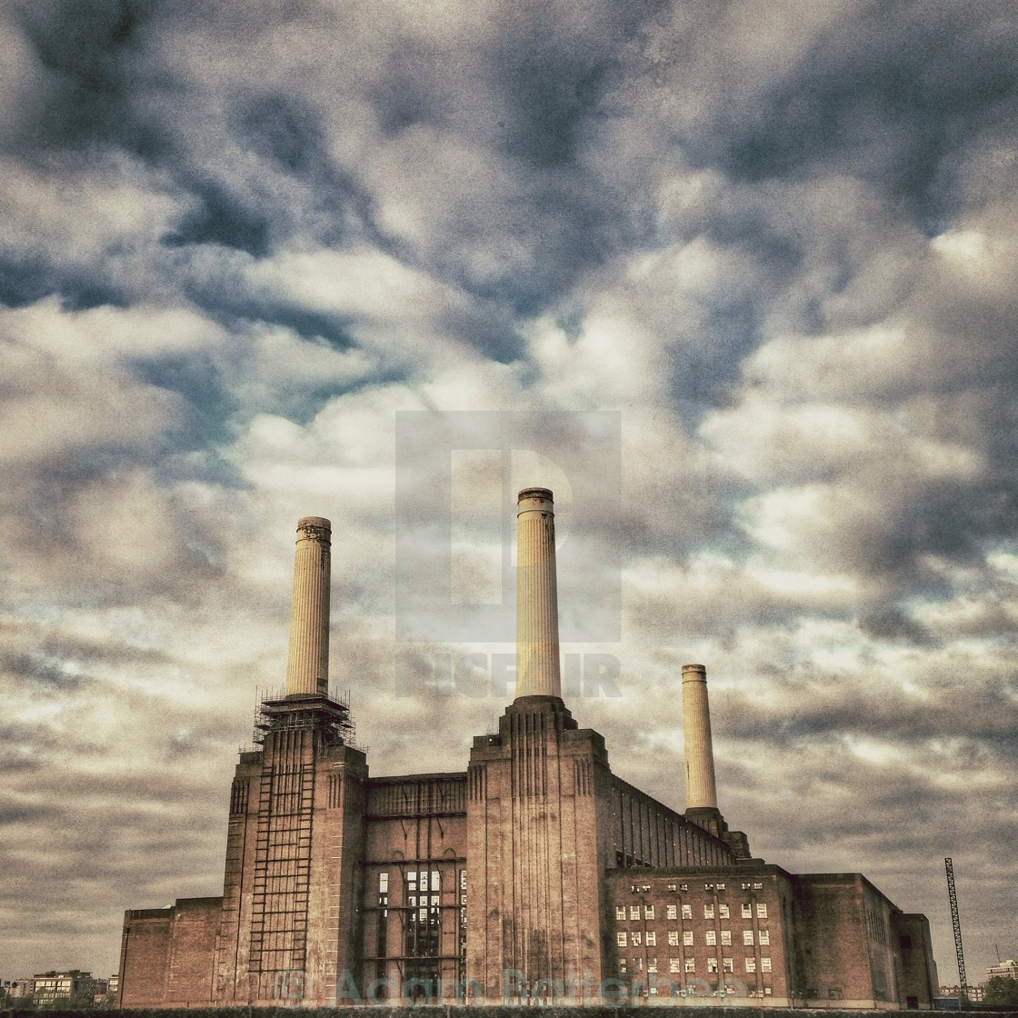 """Battersea Power Station 1"" stock image"