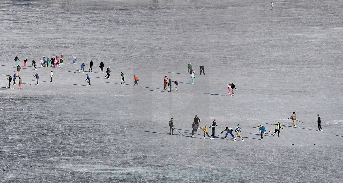 """Skating on thick ice"" stock image"