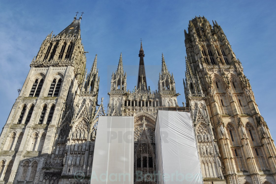 """Rouen Cathedral"" stock image"