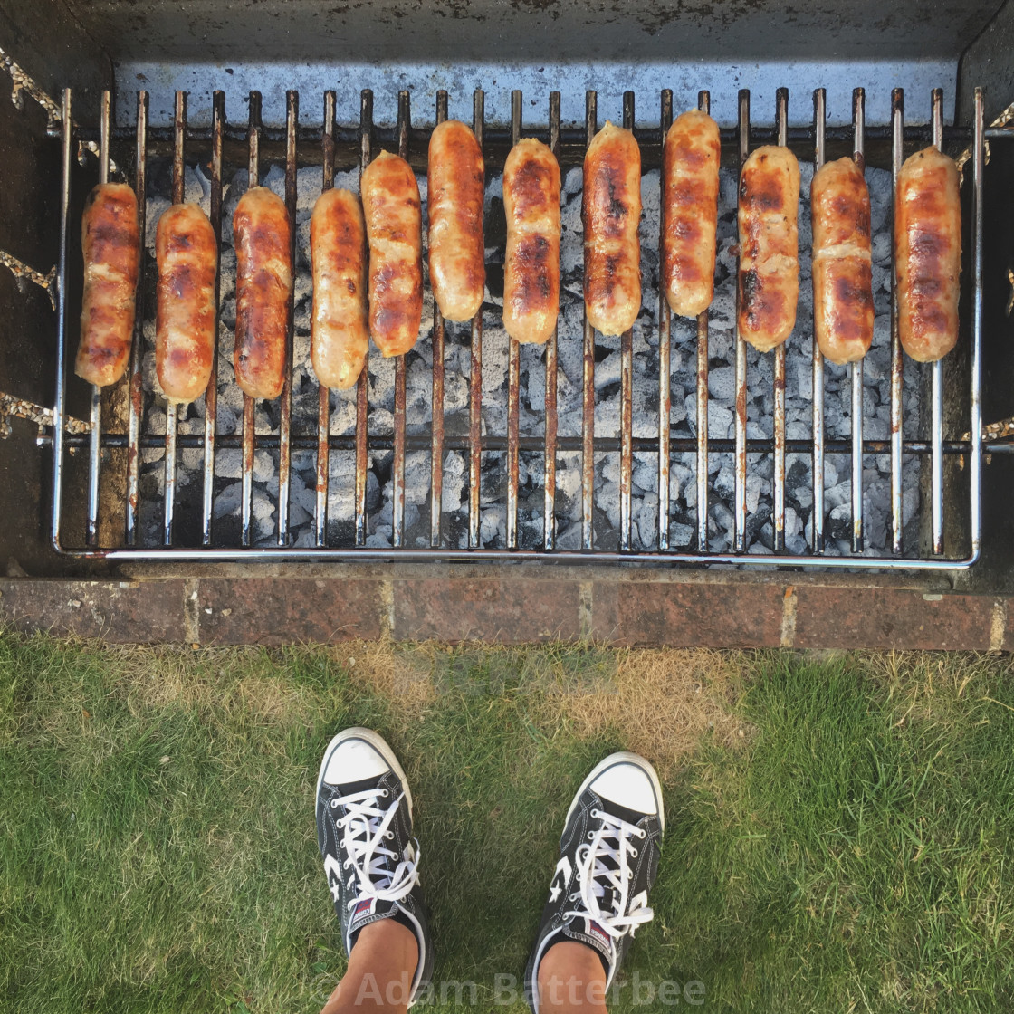 """BBQ saussages"" stock image"