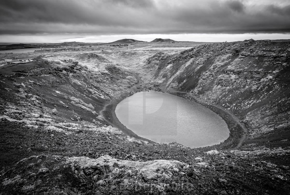 """Crater - Iceland"" stock image"