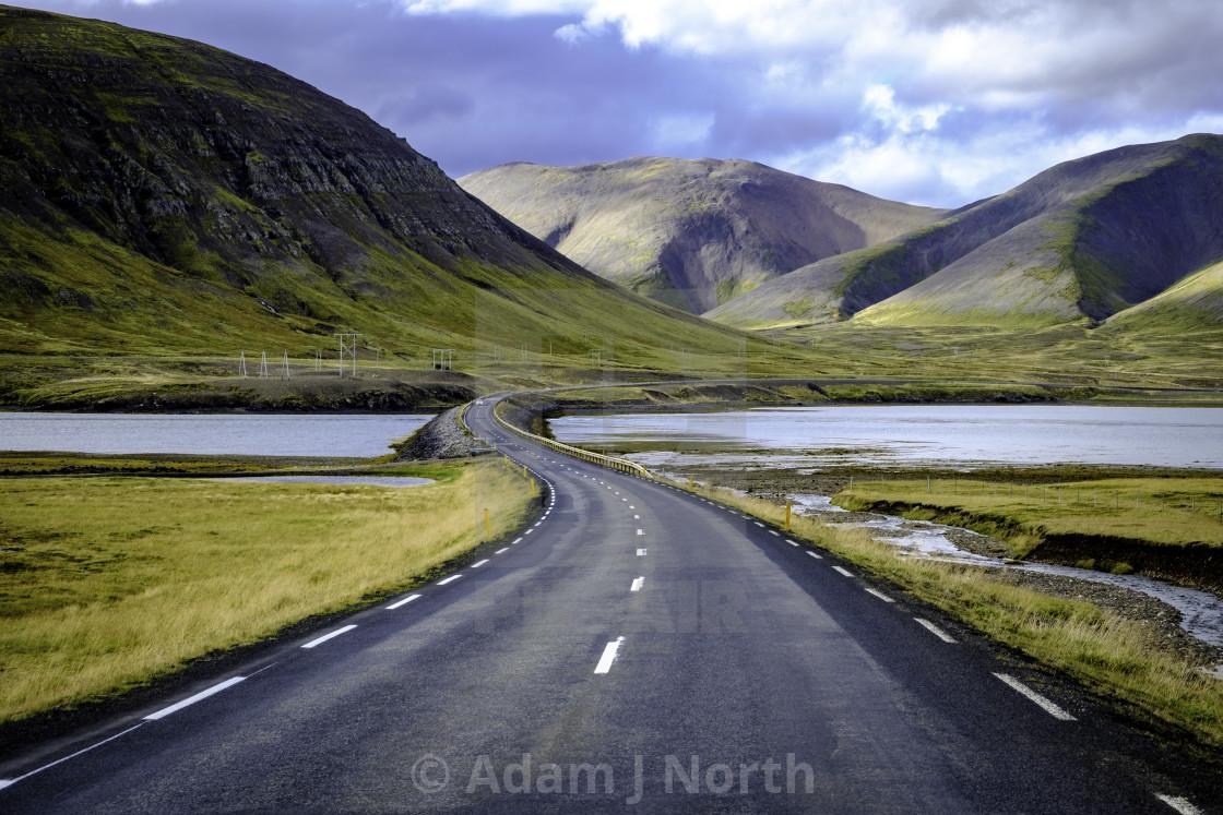 """Road through the Icelandic landscape"" stock image"