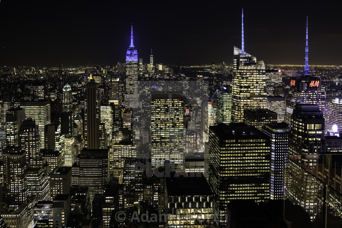 """New York city lights"" stock image"