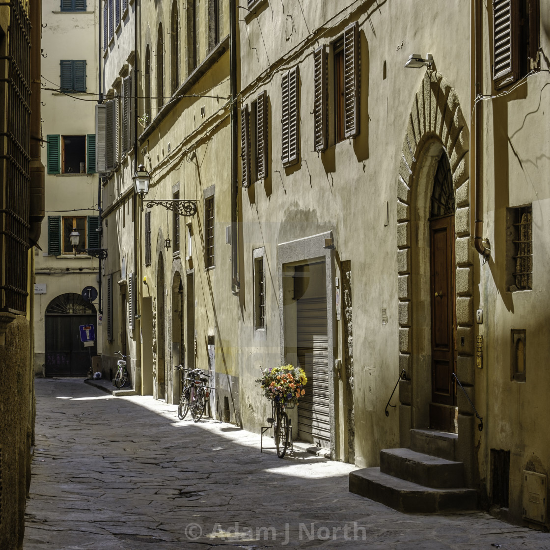 """A street in florence"" stock image"