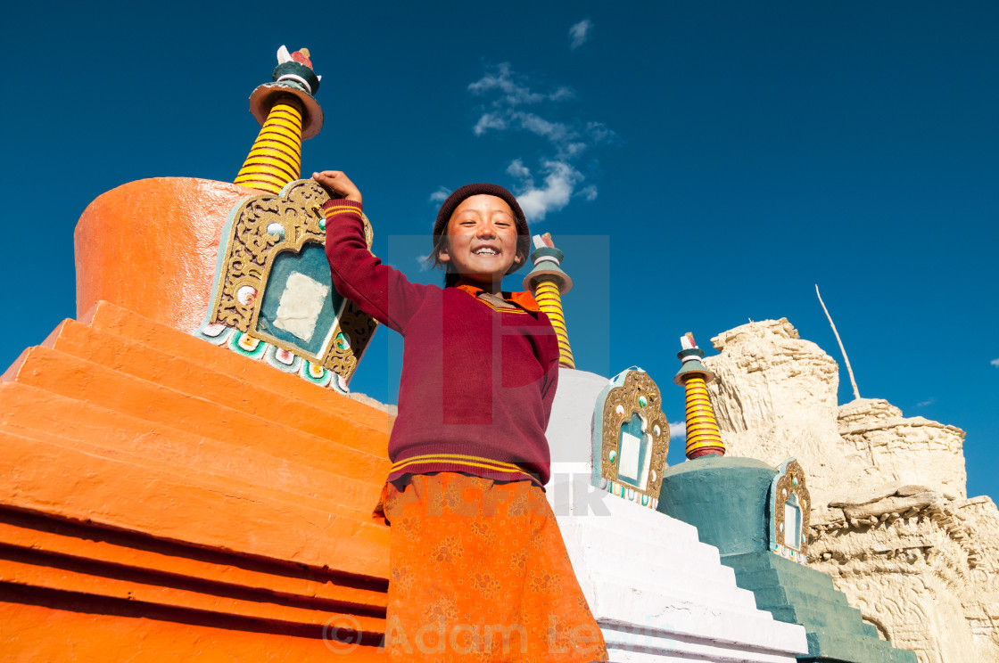 """""""Standing with the Stupas"""" stock image"""