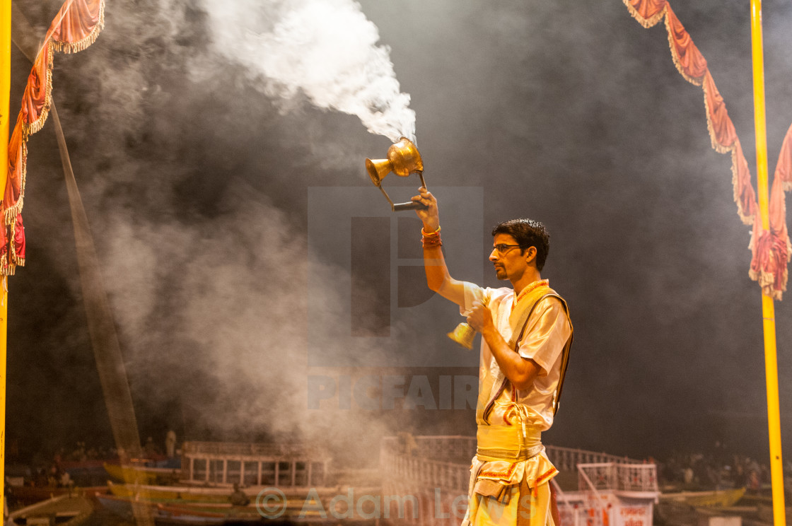 """""""Smoke on the Ganga"""" stock image"""
