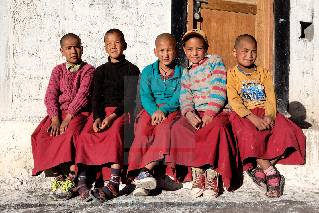 """""""Young Monks"""" stock image"""