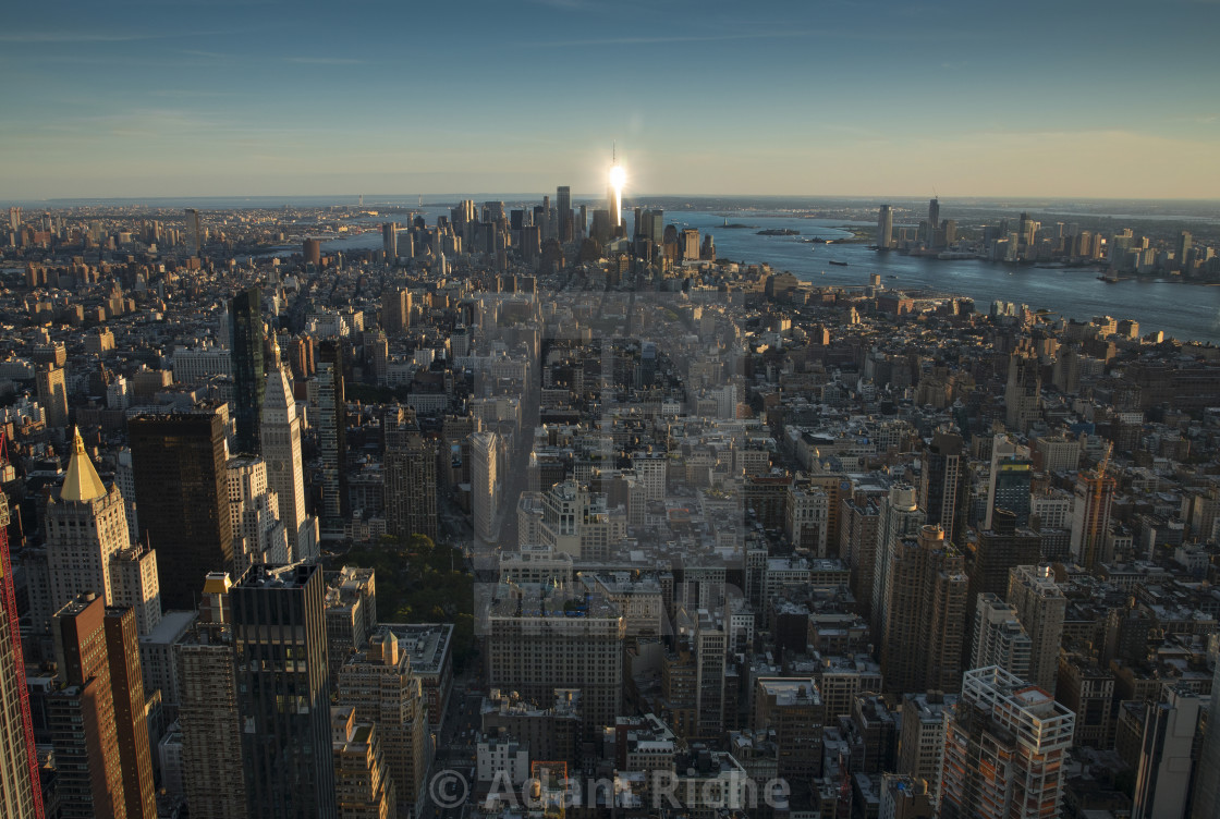 """Golden Hour on top of the Empire State Building"" stock image"