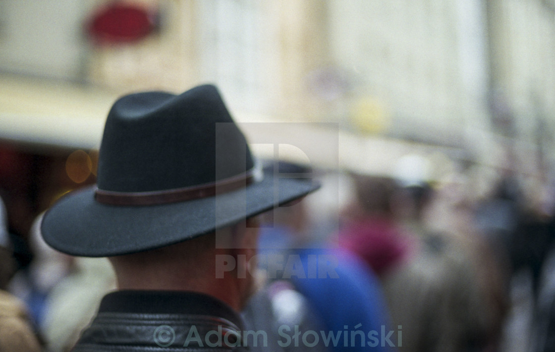 """a man in a hat"" stock image"