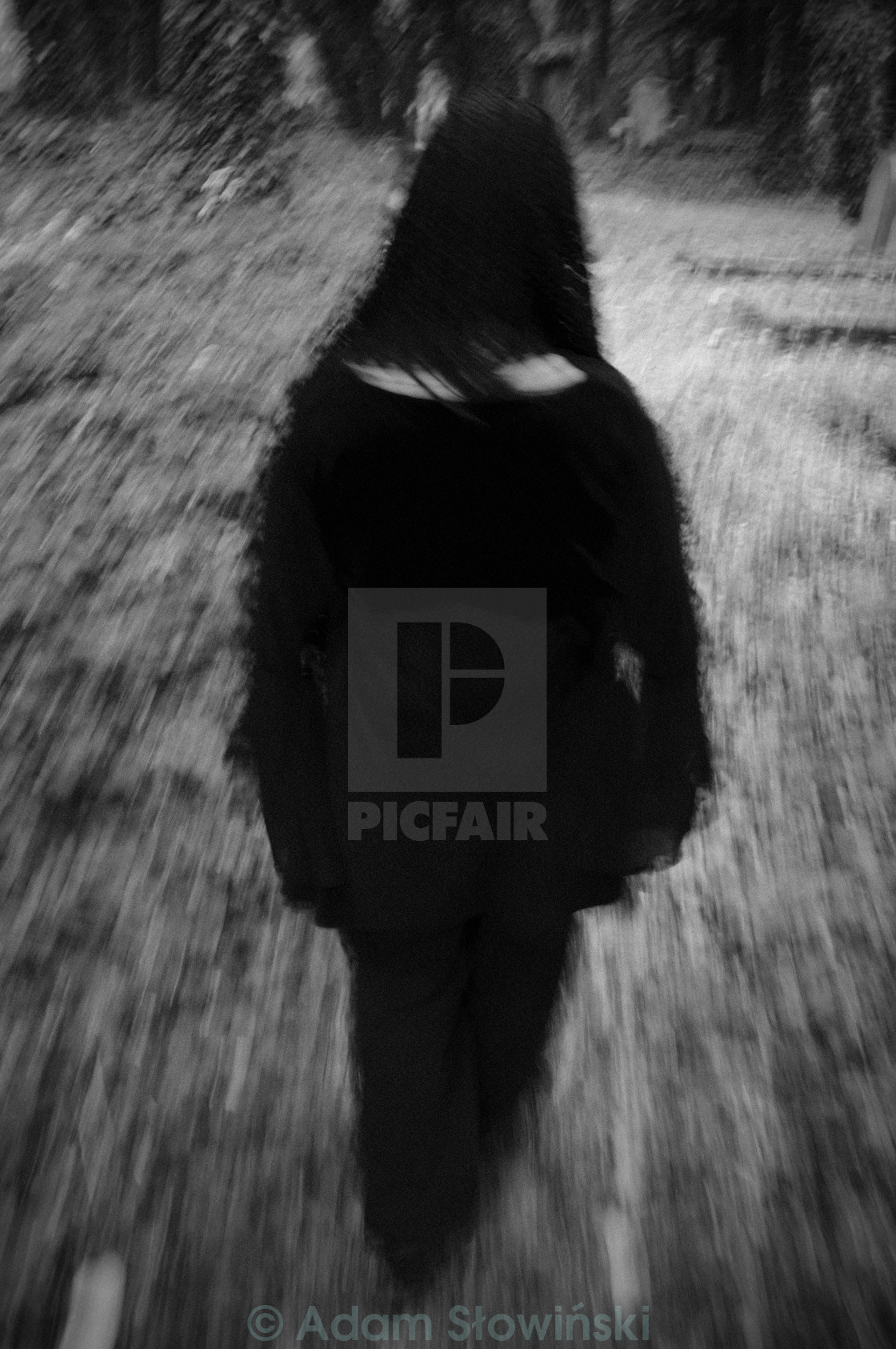 """Woman in black 3"" stock image"