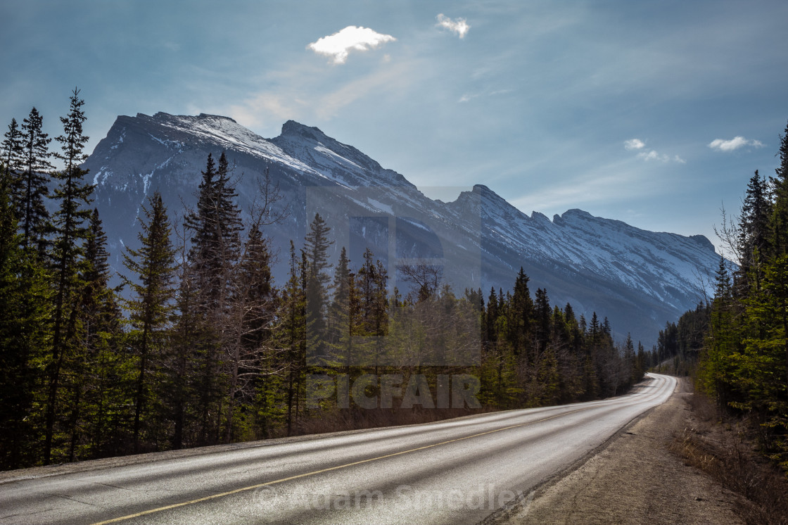 """Mount Rundle"" stock image"