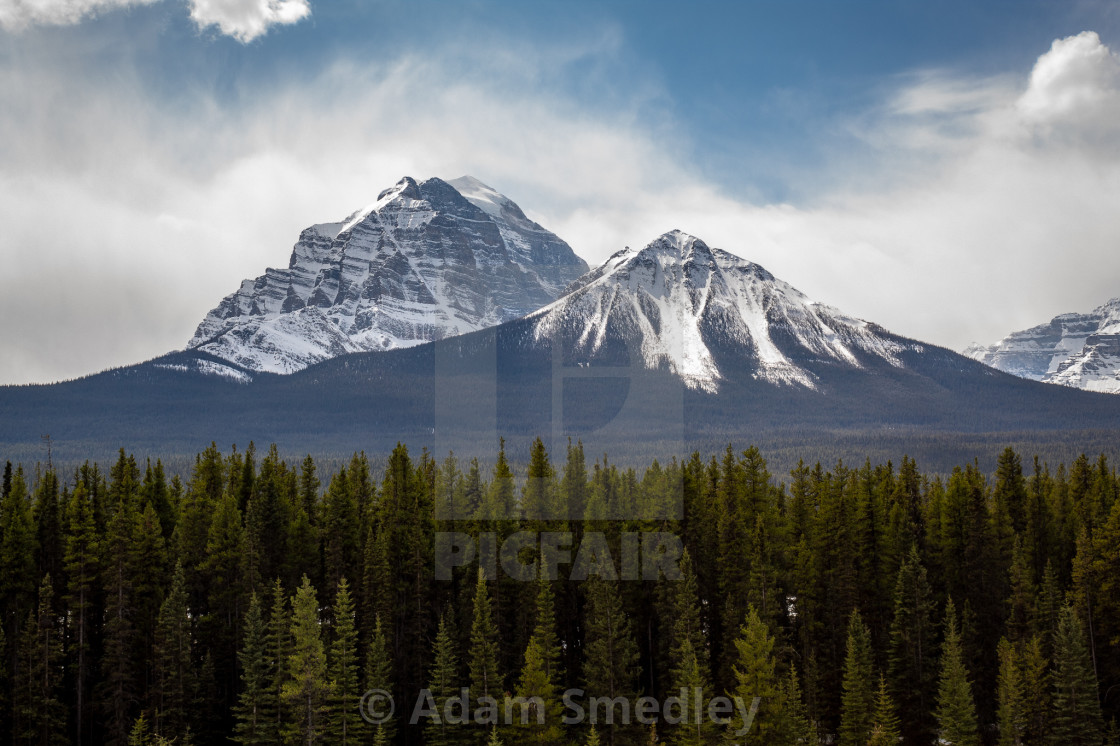 """Mount Temple"" stock image"