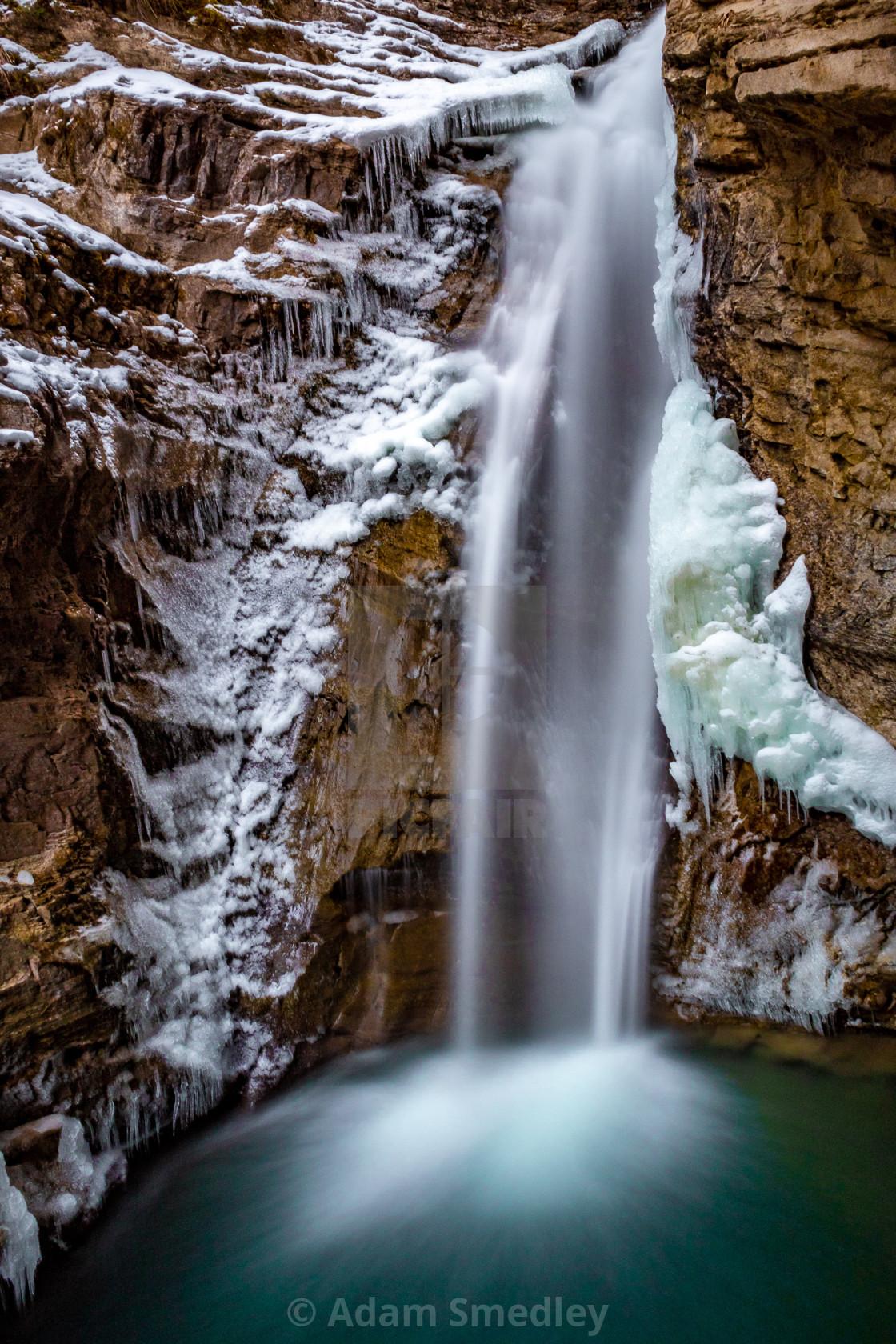 """Johnston Canyon Lowe Falls"" stock image"