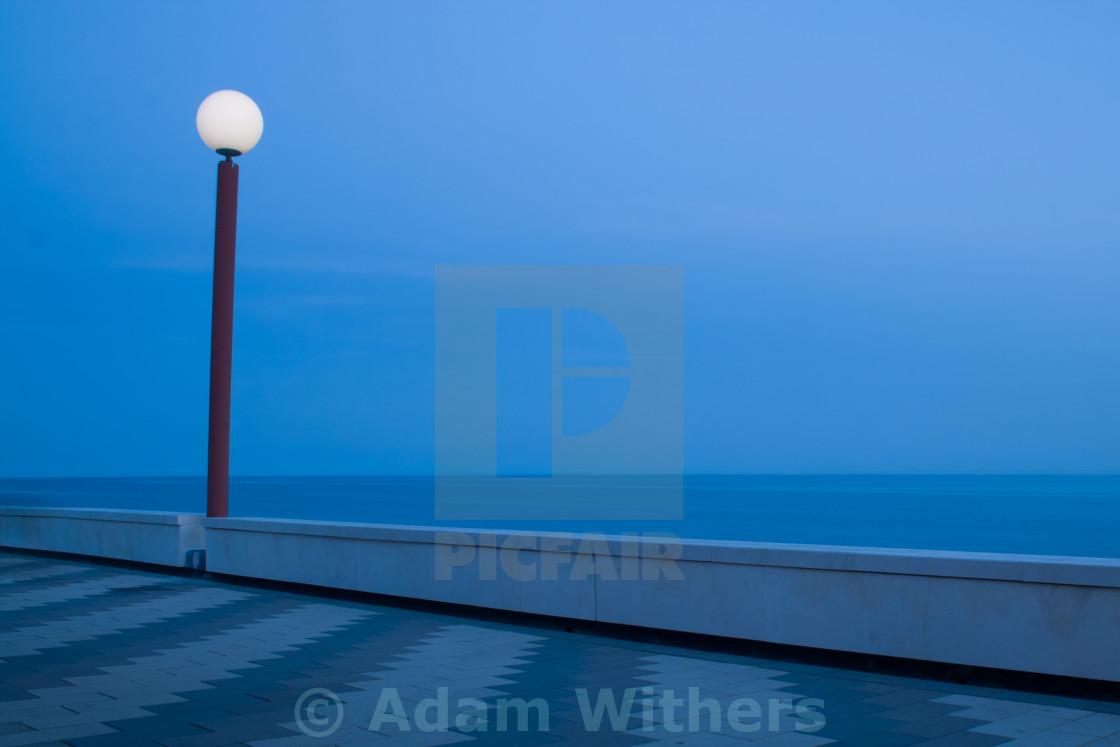 """Nighttime Esplanade"" stock image"