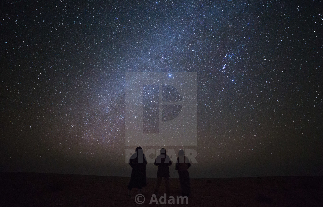 """Friends And I With The Stars"" stock image"