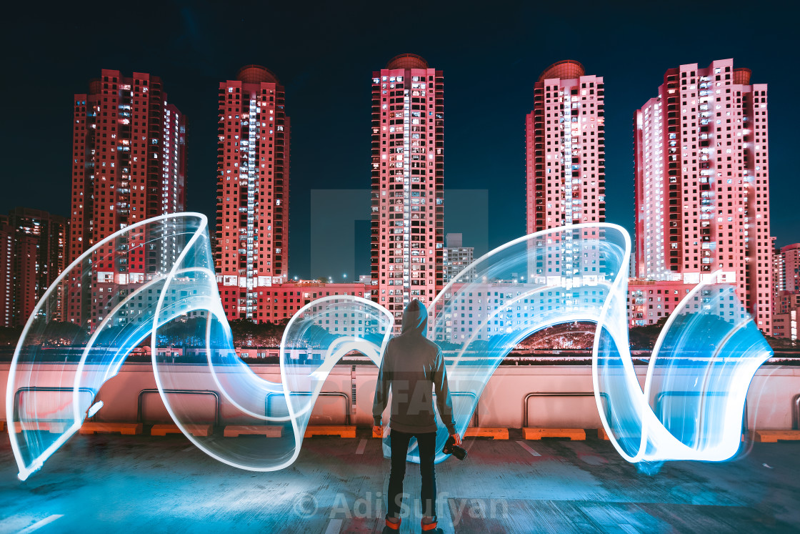 """Light paint"" stock image"