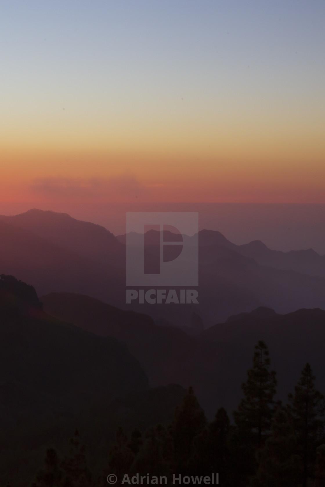 """Sunset's Gradient"" stock image"
