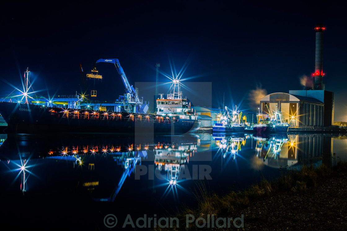 """Shoreham Harbour"" stock image"