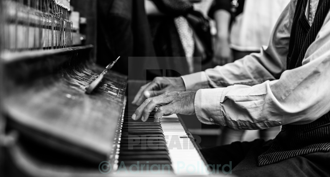 """Ragtime piano"" stock image"