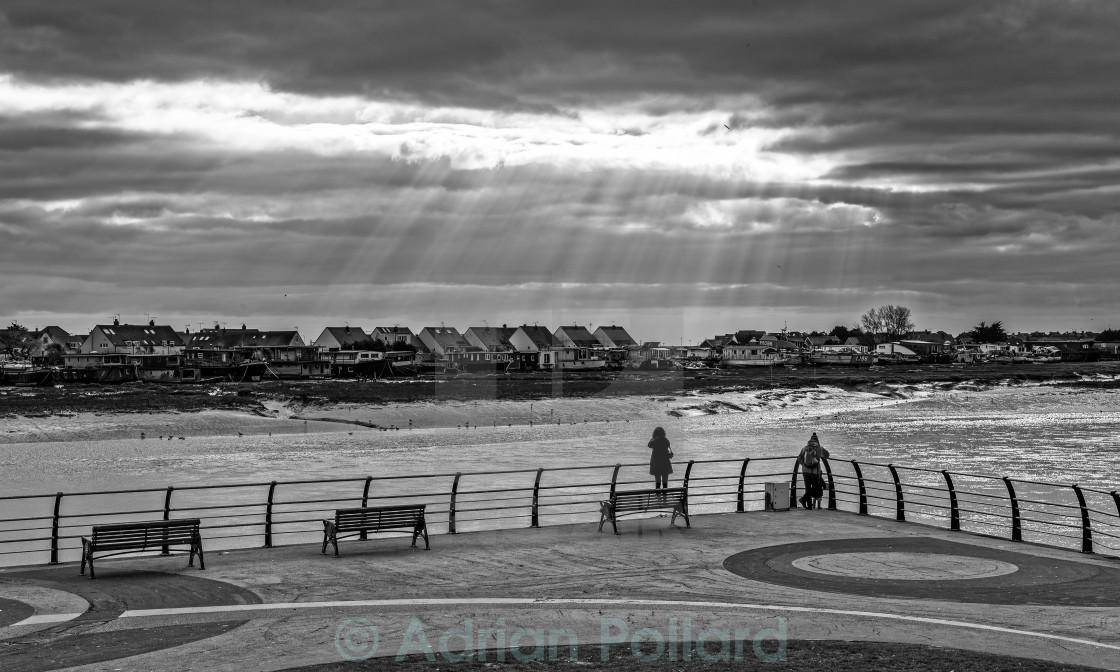 """Light rays of Shoreham"" stock image"