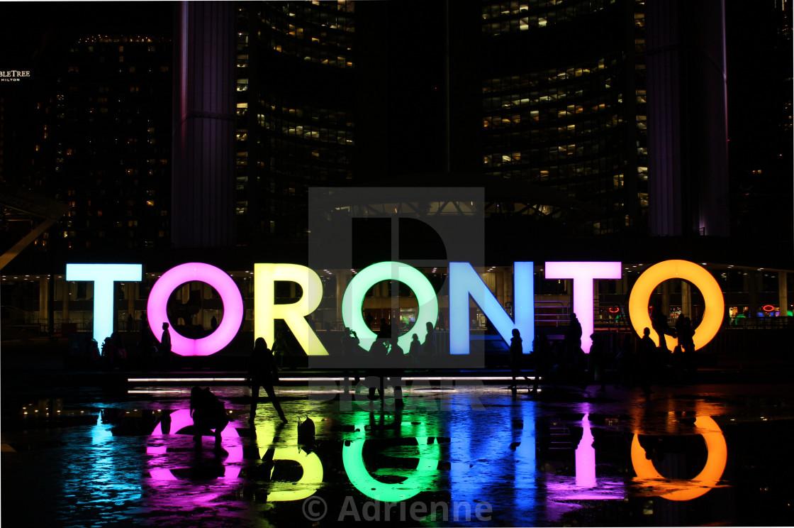 """Toronto Sign"" stock image"