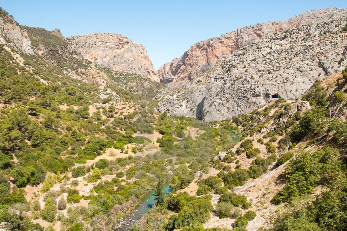"""Valley in Caminito del Rey"" stock image"