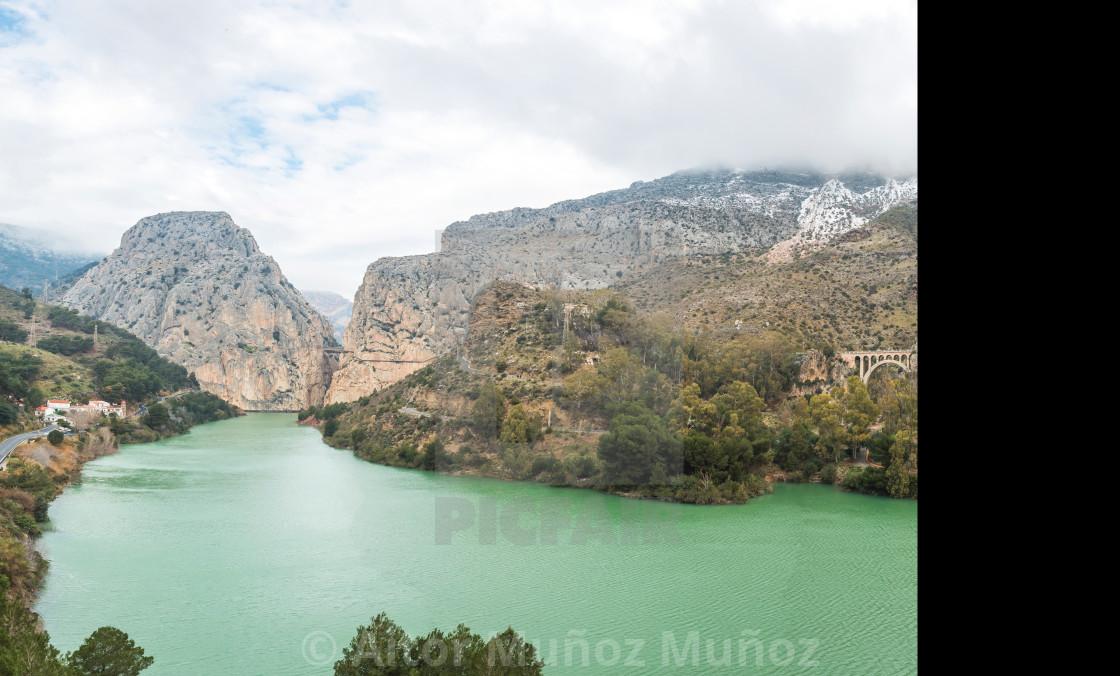 """""""Caminito del Rey in Malaga, Spain"""" stock image"""