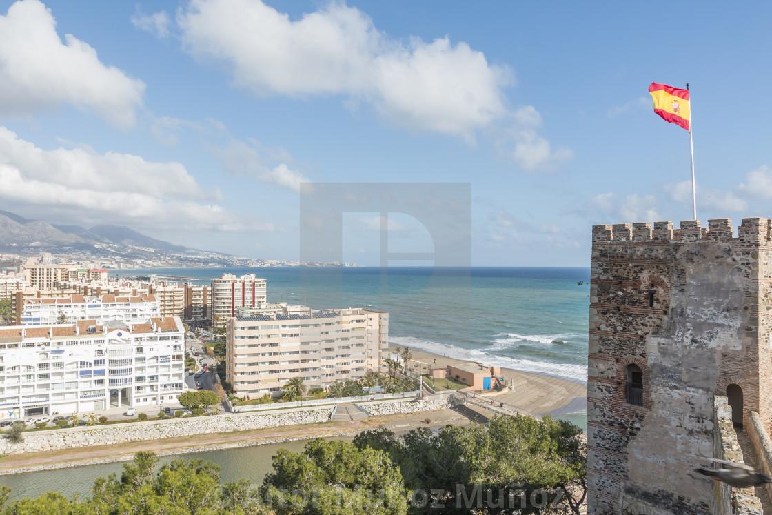 """Aerial view of Fuengirola city, Malaga"" stock image"