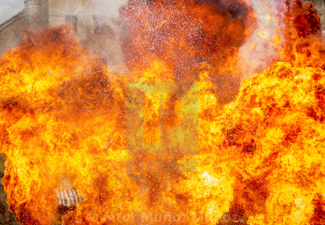 """Abstract of fire flame exploding"" stock image"