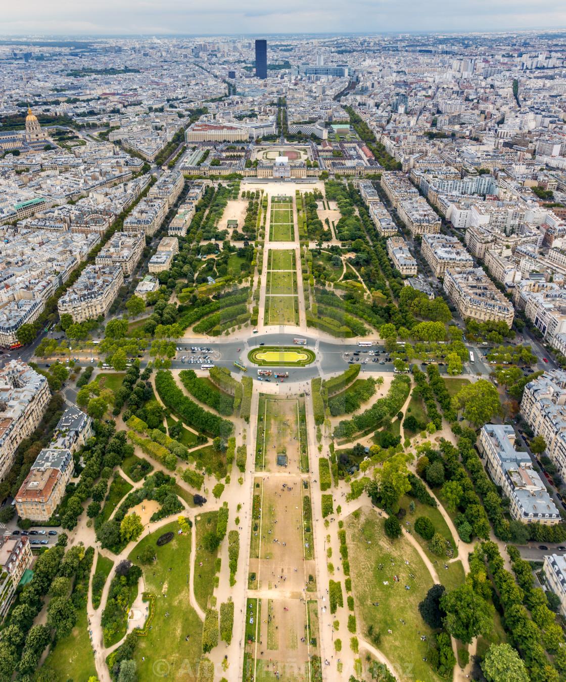 """""""Champ de Mars in Paris"""" stock image"""