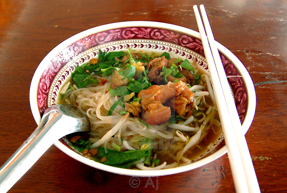 """Pork noodle"" stock image"