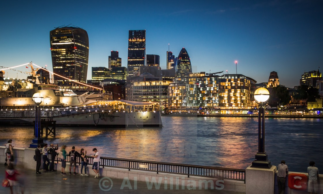"""Summer by the River Thames"" stock image"
