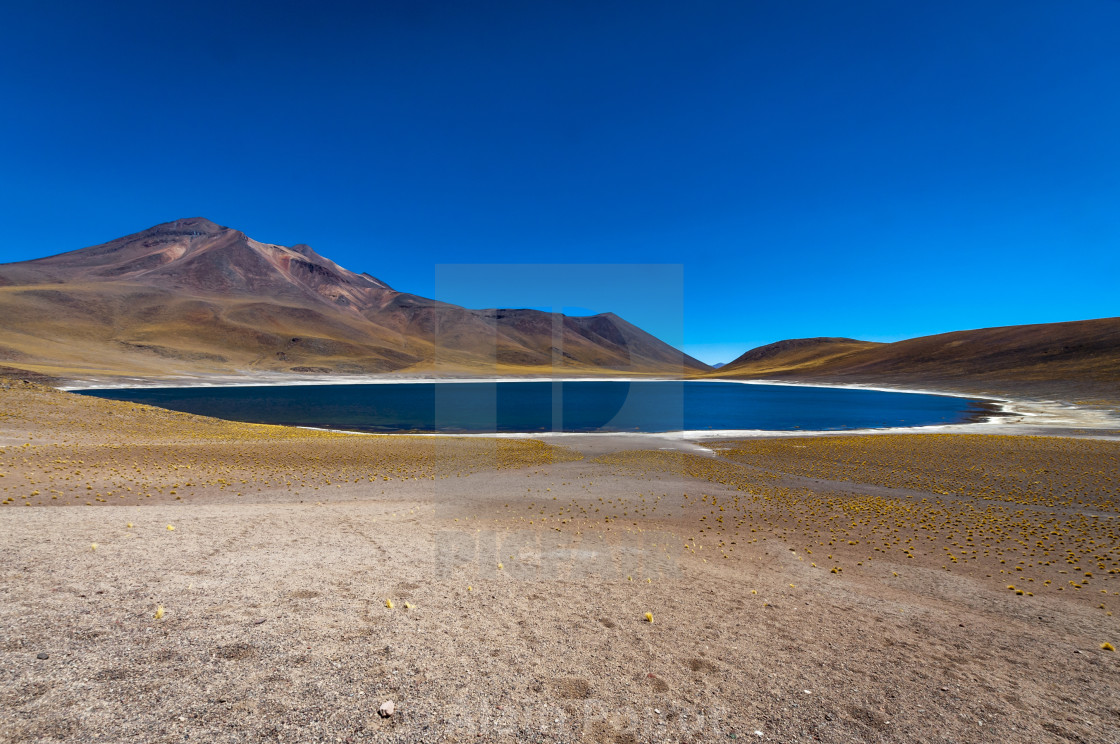 """Miniques Lagoon in Chile , South America"" stock image"