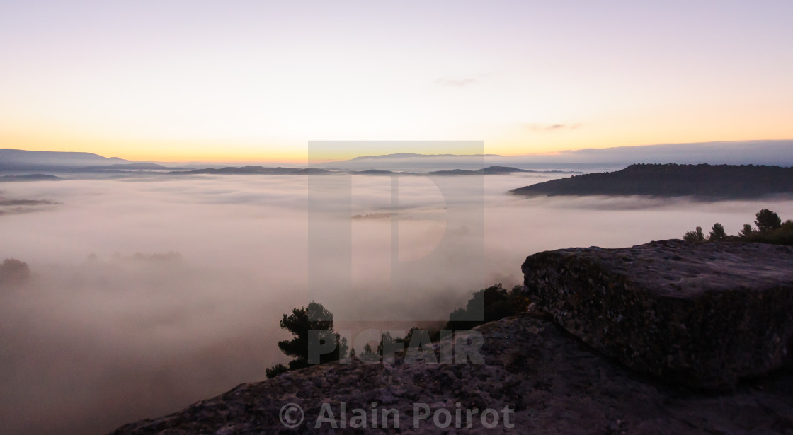 """morning clouds in the Luberon , Provence"" stock image"