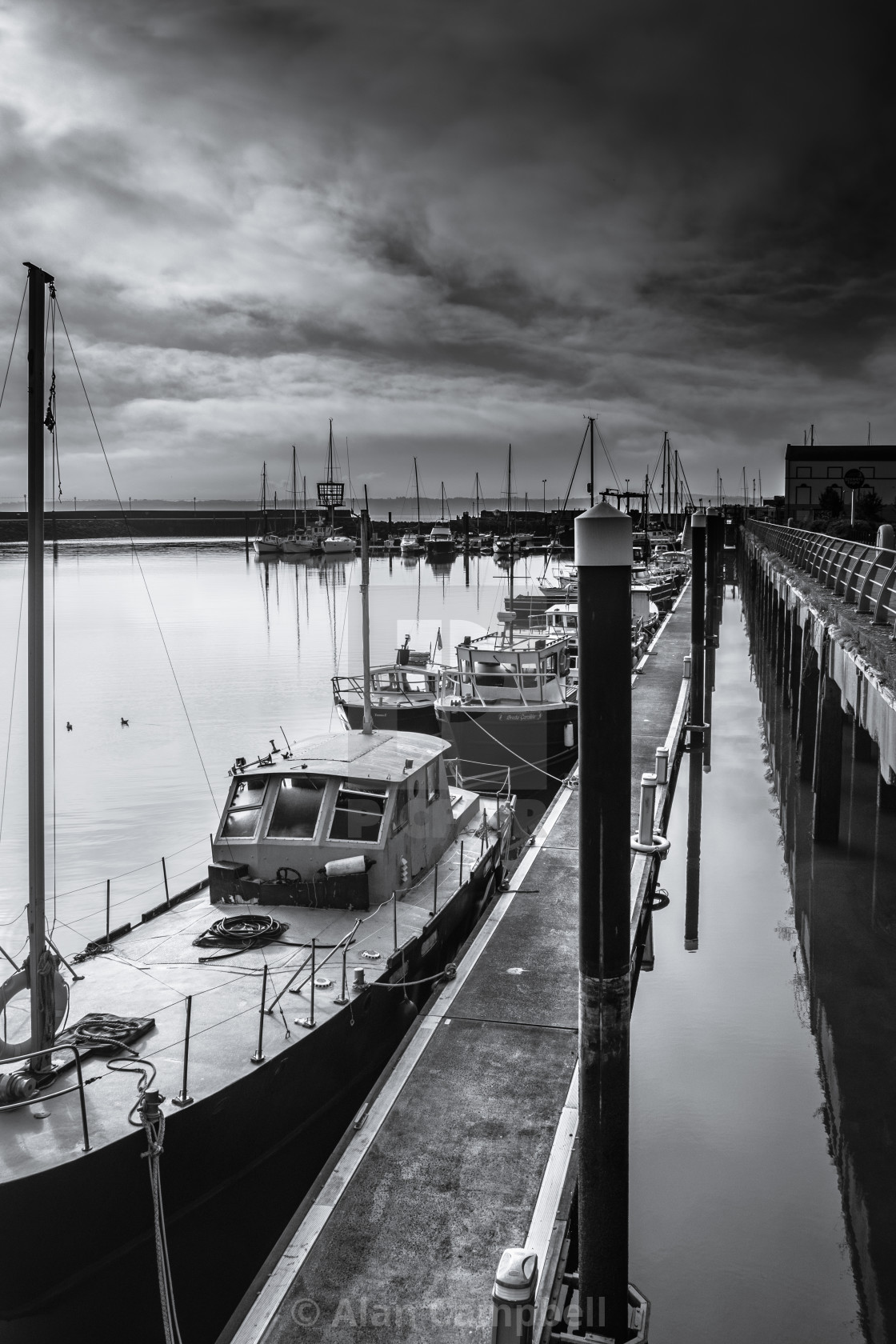 """Carrickfergus Harbour"" stock image"