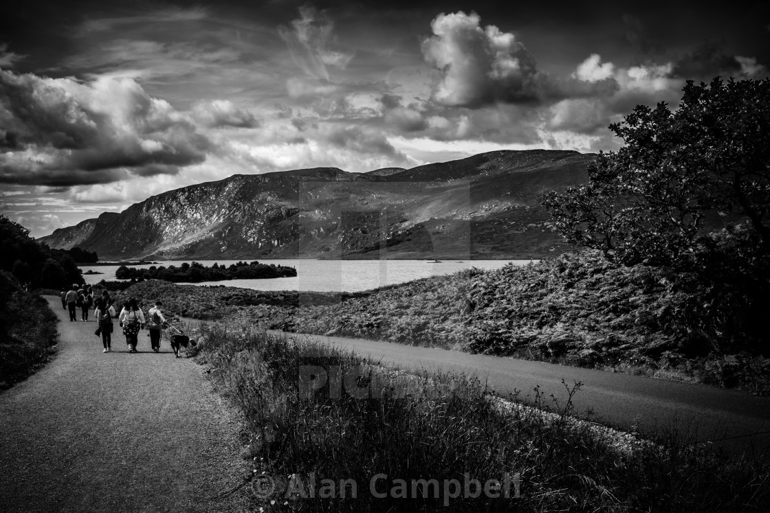 """Wandering through Glenveagh"" stock image"