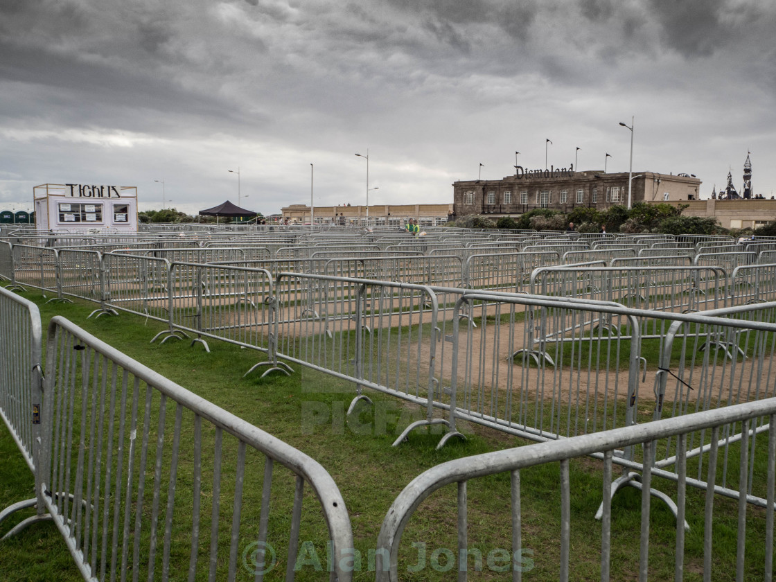 """Dismaland - minus the queues"" stock image"