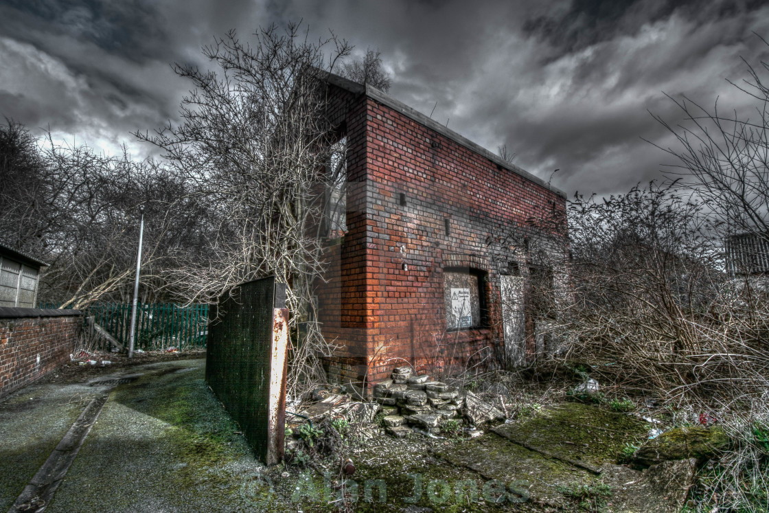"""Abandoned Storage Building"" stock image"