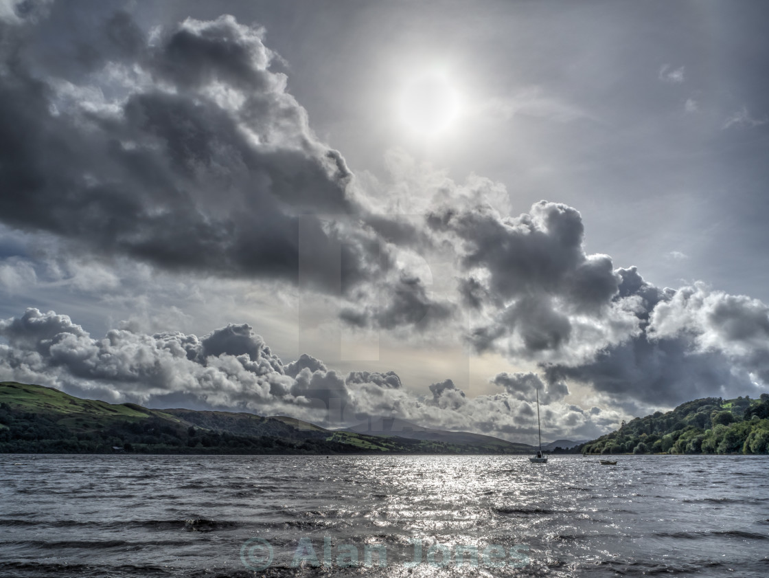 """Bala Lake - Llyn Tegid"" stock image"