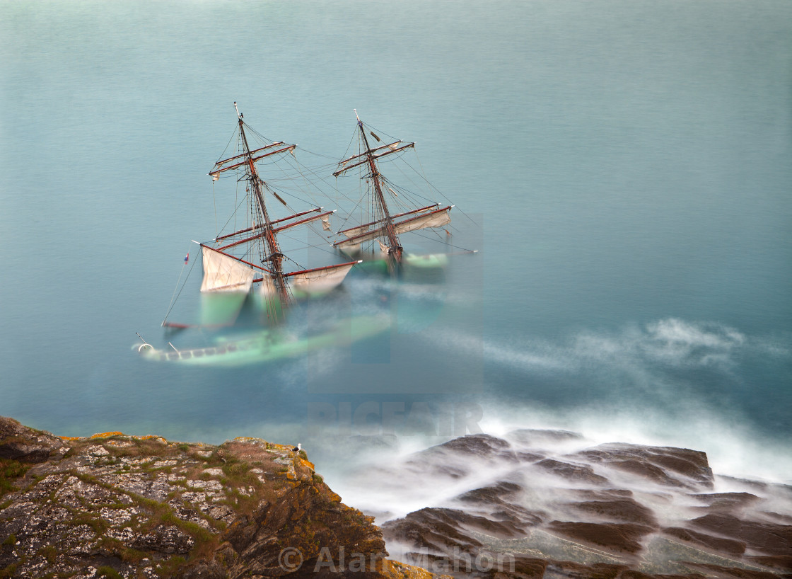 """Death of a tallship"" stock image"