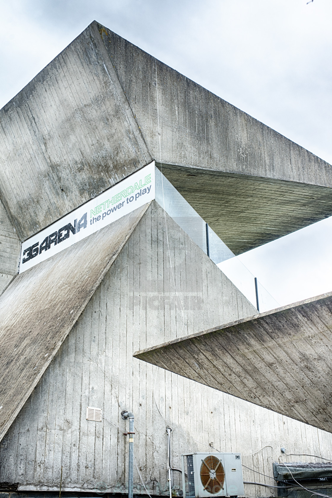 """Brutalist Football Stand"" stock image"