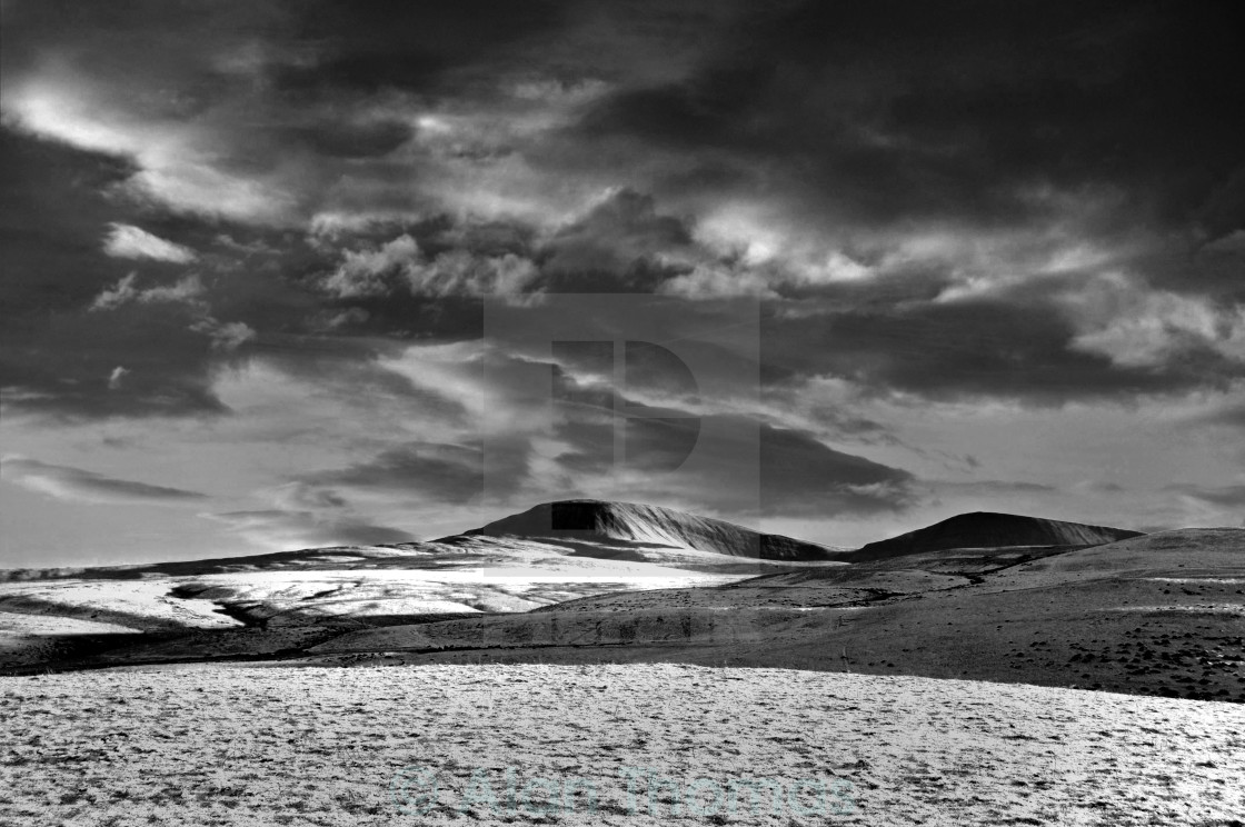 """""""Snow covered mountain in south Wales"""" stock image"""