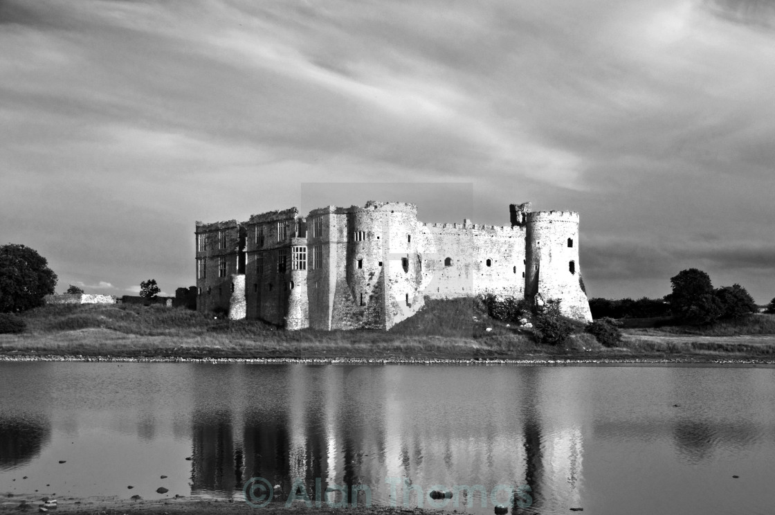 """""""Carew Castle in Pembrokeshire, south Wales"""" stock image"""