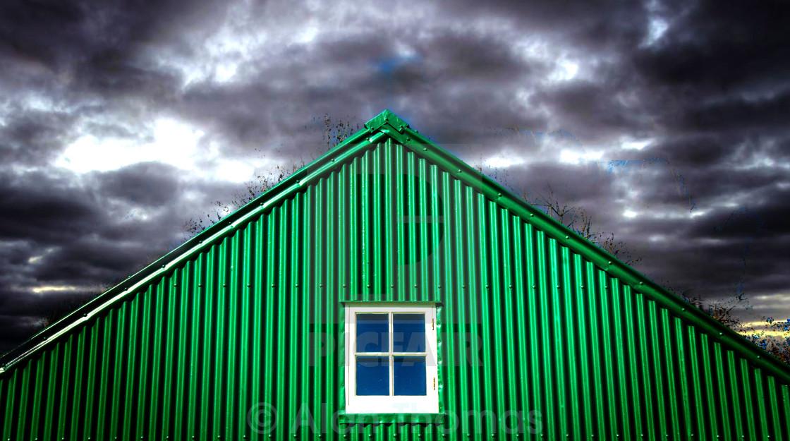 """""""Corrugated sheet building"""" stock image"""
