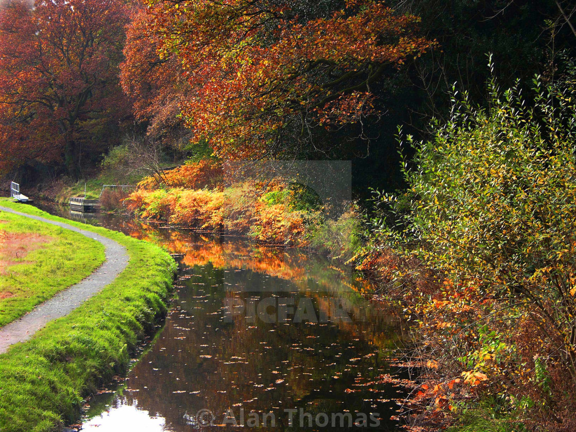"""Swansea Valley canal"" stock image"