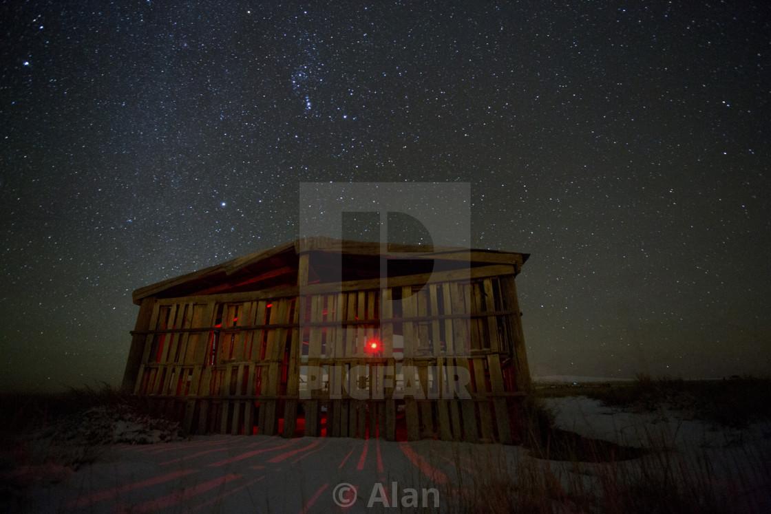 """Barn and stars"" stock image"