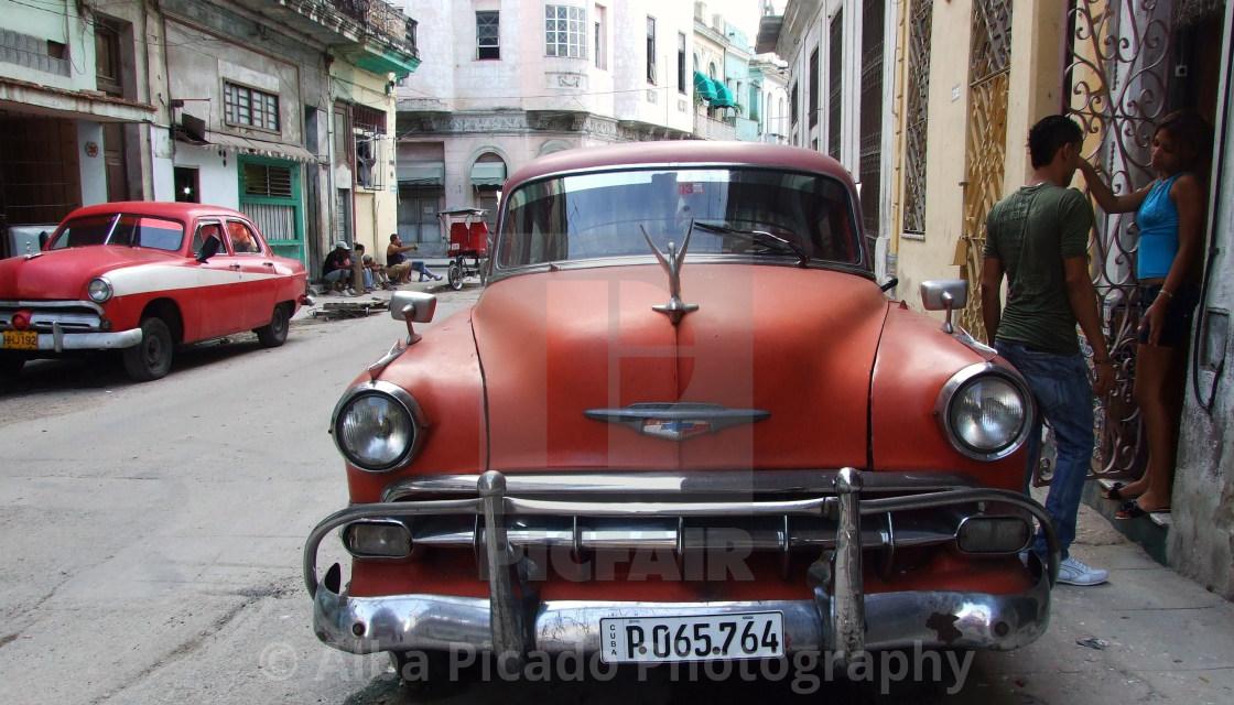 """""""Cuban Car - Red"""" stock image"""