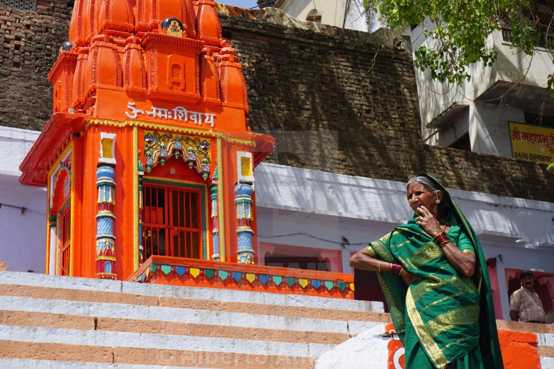 """""""Woman in Varanasi"""" stock image"""